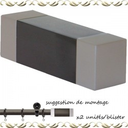 Embout de tringle rectangulaire 20ø