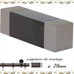 Embout tringle rectangulaire 28ø