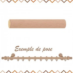 tringle en bois sur mesure 28 mm