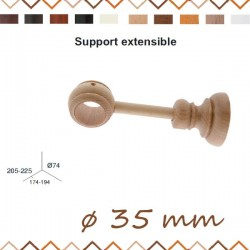 Support extensible bois 35 ø