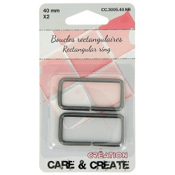 Boucles rectangulaires 40 mm