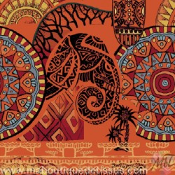 Tribal Africa Coupon Jacquard 45 Cm